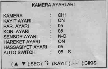 KAMERA AYARLARI