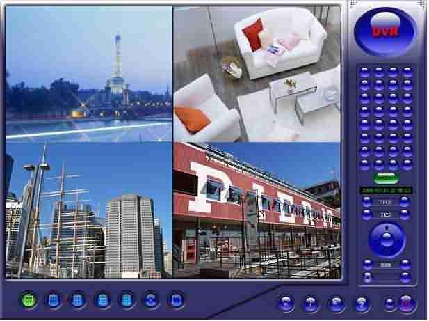 Pc bazlı kamera güvenlik sistemi ana ekranı