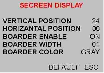 SCREEN DISPLAY