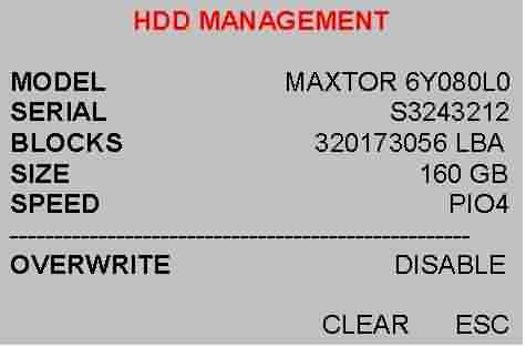 HDD MANAGEMENT