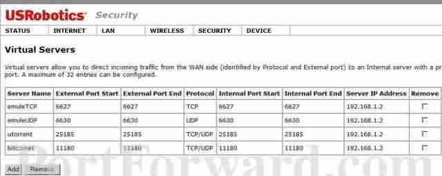 USR-9114 modemlerde port yönlendirme
