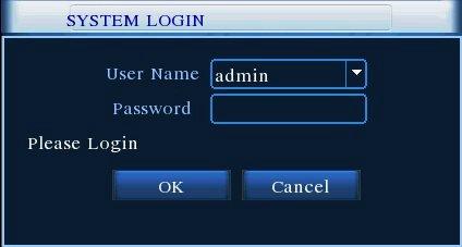 Dvr cihazı kullanıcı adı ve parola girişi