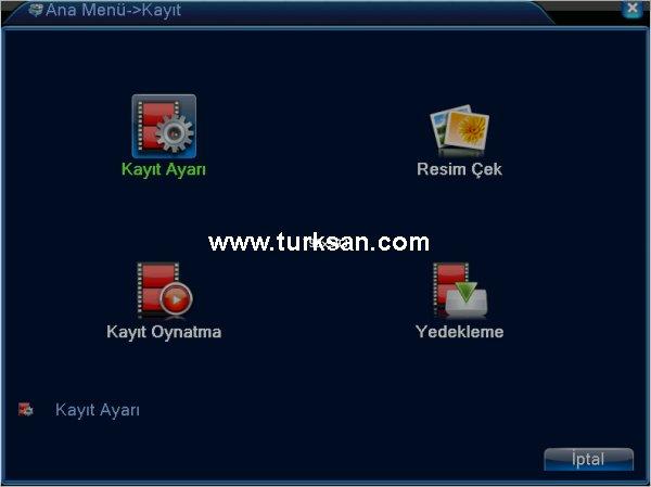 Multipix kayıt cihazı kayıt ayarları sayfası